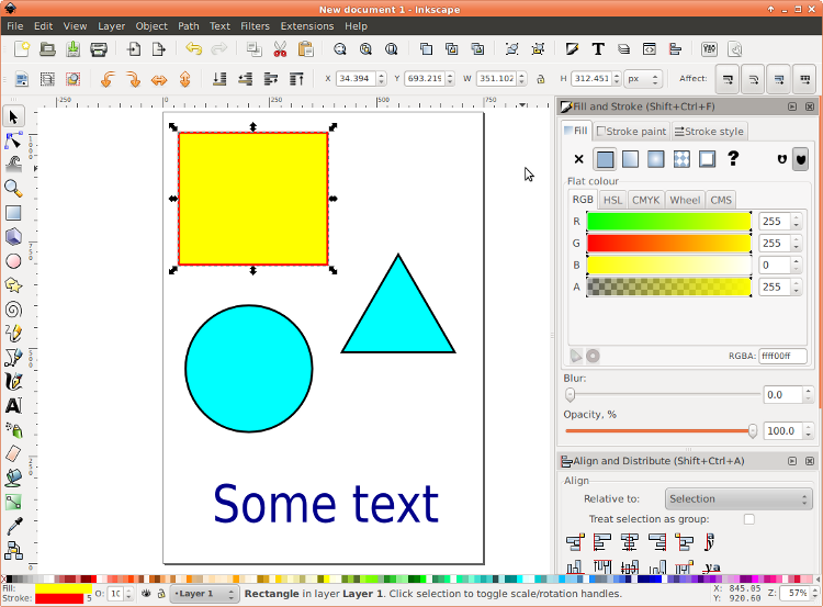 Creating stimuli with Inkscape and other software